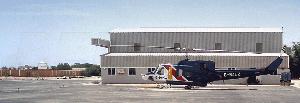 Nouakchott Helicopter Hangar Side Profile