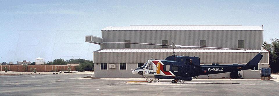 Nouakchott Helicopter Hangar Side Profile